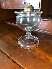 Antique Vintage Heavy Hand Blown Kitchen globe Oil Lamp