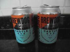 More details for brewdog bernard castle eye test collectable empty beer can hazy durham x2