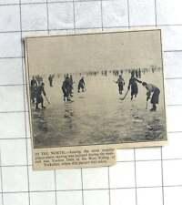 1935 Ice Hockey, Skating On The Yeadon Dam West Riding Yorkshire
