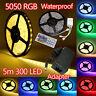 Striscia A LED 5050 SMD 300 LED 5/10/15M Strip FLESSIBILE ADESIVA Luci a LED