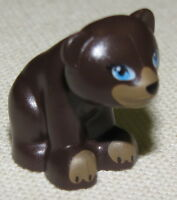 LEGO NEW SMALL BROWN BEAR ANIMAL FIGURE PIECE