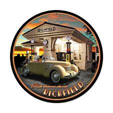 Larry grossman Richfield Oldtimer gasolinera vintage retro chapa escudo Escudo