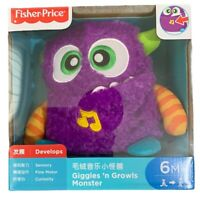 Fisher Price Monster Purple Giggles Growls Soft Toy 6m+