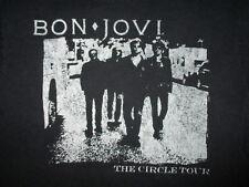 BON JOVI CONCERT T SHIRT Circle 2010 2011 Tour Cities Jon Worn Print Adult SMALL
