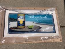 W@W Corona Extra Beer Bar Mirror Beach Fun Summer Drink Miller Pub
