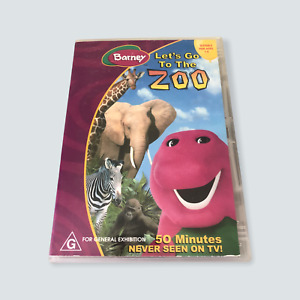 Barney: Let's go to the Zoo - Region 4/GC/G/AUS/Tested/Children/Free Postage 🐙