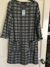 New Ladies/Girls Grey Checked Dress Size 10