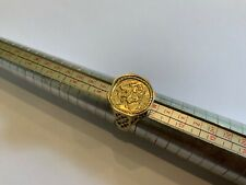 Stunning Hexagonal  9ct Yellow Gold St George Medallion Ring  Size U+ Mans