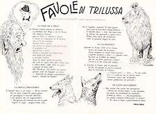 STAMPA 1931 ARTICOLO FAVOLE DI TRILUSSA ORCO LEONE ER LUPO CONVERTITO MANOLLI