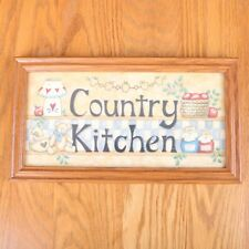 Country Kitchen Framed Wall Decor