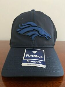 Denver Broncos Fanatics UNISEX Adult Stretch Fit Cap - Medium/Large NEW