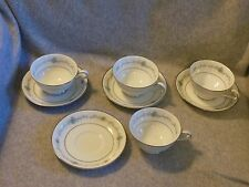 "Set of 4 Vintage Noritake ""Glencoe"" Fine China Cups Saucers Tea Coffee Punch Cup"