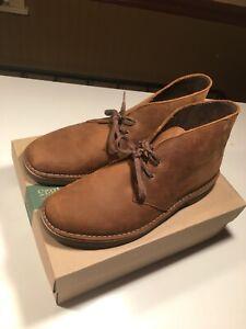 Mens Clark's Bushacre 2 Brown Suede Casual Shoes Size 10