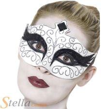 Ladies Gothic Swan Masquerade Eyemask Halloween Fancy Dress Accessory Ball Mask