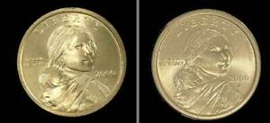 Two  2000 P Sacagawea US Dollars Both in.Nice Condition.