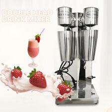 Stainless Steel Milk Shake Machine Double Head Drink Mixer 18000rmp 110v