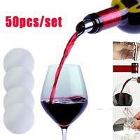 50pcs/set Foldable Wine Pourer Aluminum Foil Silver Disk Spout Party Bar Tools