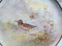 """ROYAL DOULTON SIGNED HART 9½"""" HP BIRDS DISPLAY PLATE WOODCOCK(Ref3485)"""