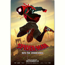 H906 Spider Man Into the Spider Verse Character Movie Film Poster Art Decor