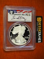 2006 W PROOF SILVER EAGLE PCGS PR70 DCAM EDMUND MOY SIGNED FLAG LABEL