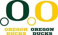 NEW - OREGON DUCKS DECALS - 8 CORNHOLE Board Decals 1-Green 1-Yellow -2 Window