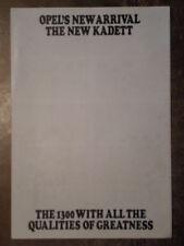OPEL KADETT 1300 orig 1979 UK Mkt Sales Brochure