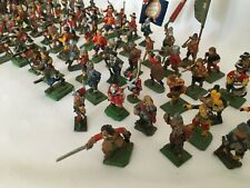 Miniature Metal Painted Army 30 Mounted & 72 Foot Soldiers