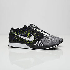 Nike Flyknit Racer Black/White-Black-Volt  DS Oreo - Size 8 (526628-011)