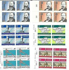 LUXEMBOURG 1992 - lot of MNH in blocks of 4 - CV $ 40.00  (g45)