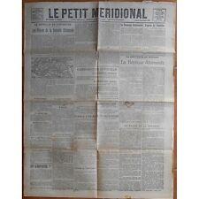 Le PETIT MÉRIDIONAL Castelnau Valergues Cette Clermont Nébian Alais 22 Oct. 1918