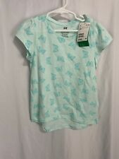 H&M Nwt($12.99) Girls 6-8Y Teal Butterfly Print Organic Cotton Top