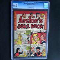 ARCHIE'S JOKE BOOK MAGAZINE #1 (1953) 💥 CGC 6.0 OW-W 💥 ONLY 24 in CENSUS!