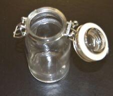 "STASH JAR Airtight Smell Proof Glass Herb Stash Jar 4"" Tall"