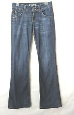 Hudson Jeans 27 Style W170DHA Signature Bootcut Distressed Flap Pockets SCO