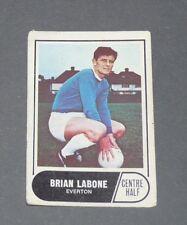A & BC GUM CARD FOOTBALL ENGLAND 1969 BRIAN LABONE EVERTON TOFFEES GOODISON PARK