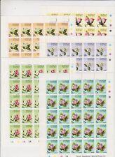 Stamps Nauru flowers set of 5 in complete sheetlets of 25 inc imprints Muh