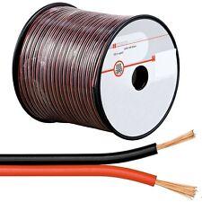 (0,46€/m)100m Zwillingslitze 2x0,75mm² ROT-SCHWARZ Lautsprecherkabel Kabel Litze