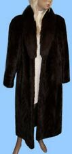 Size 10 or Medium GENUINE DARK RANCH MINK AND FOX FUR COAT - Magnificent !