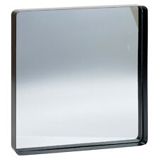 Square Inset Design Metal Frame Bathroom Mirror Modern 40x40cm Wall Mounted New