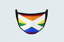 Scottish Flag LGBTQ+ Face Mask Rainbow Pride Scotland Celtic Mask Covering