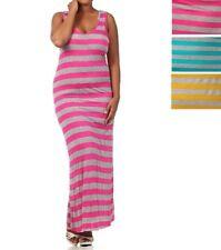 women dress maxi long striped form fitting sleeveless sundress  XL