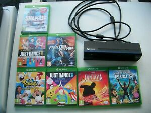 XBox One Kinect Camera & 7 games Fantasia Shape Rabbids Just Dance Sports Rivals