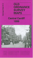 OLD ORDNANCE SURVEY MAP CARDIFF CENTRAL 1899
