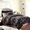 Bed Throw Blanket Super Soft Faux Fur Warm Fluffy Dark Gray Blankets King Size