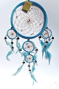 indianer,50x25cm,traumfänger,5 ringe,dreamcatcher,magie,mystik,glitzer,spiegel