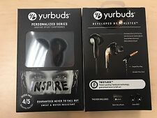 YURBUDS INSPIRE SPORT EARPHONES BLACK NEVER HURT OR FALL OUT SIZE 4 / 5