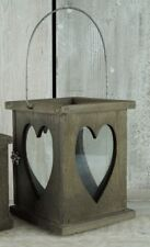 Large Wooden Lantern Hanging Heart Candle Tea Light Holder Wedding Decoration