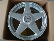 Einzelstück AZEV A - 7,5x16 LK 5x100 ET35 Silber inkl. Deckel / RIEGER-Tuning