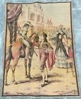 16120 Vintage French Pictorial Tapestry Authentic Wall Hanging Home Decor 2x3 ft