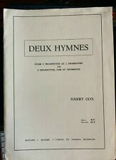Deux Hymnes for Brass Quartet by Harry Cox editions J. Mauer 1968